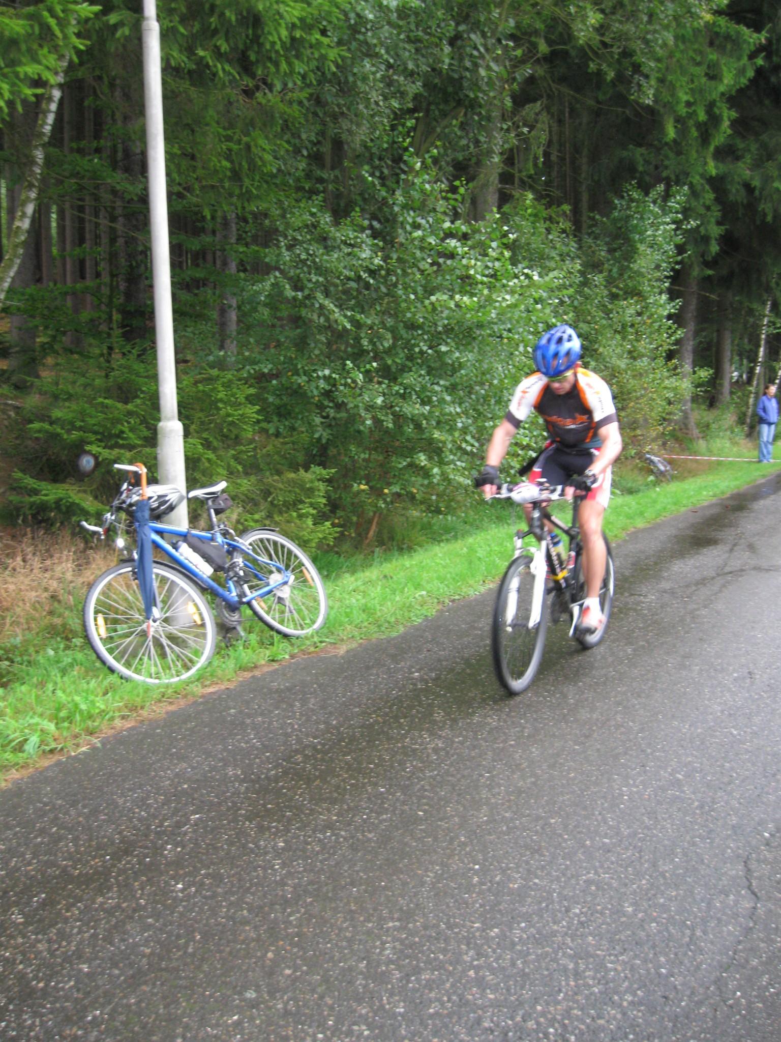 Start na cyklo část - ještě čistý :-)
