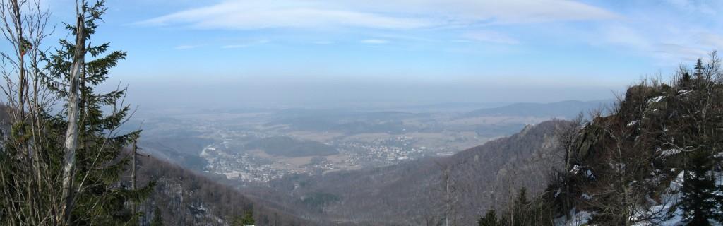 Pohled na Hejnice z Máří